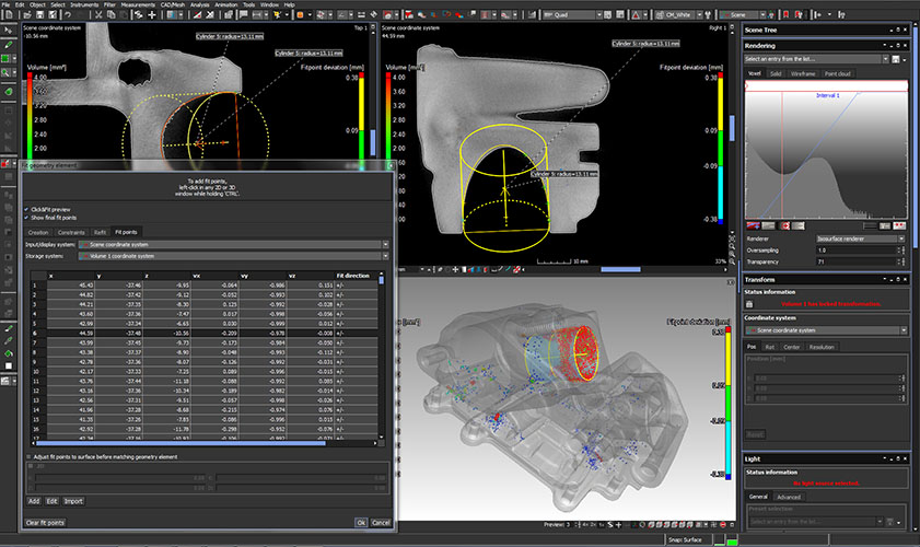 CT MU2000 Foundry AIhousing measurement screenshot